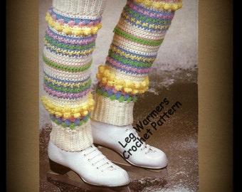 Leg Warmers - Crochet Pattern - PDF 0219984 - Instant Download - Gymnastics, Skating, Dancing