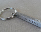 Men's Personalized Keychain Stainless Steel Bar Keychain 4 Sided Dad Hipster Daddy Keychain Dad