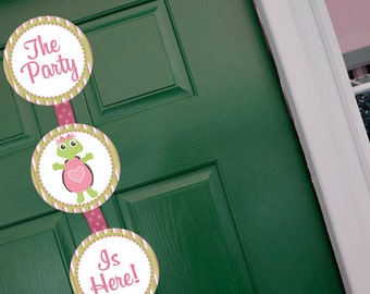 Turtle Girl Welcome Door Sign Party Printable - Stick to Your Story