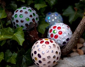 Set of THREE Mosaic Garden Orbs SAVE On SHIPPING