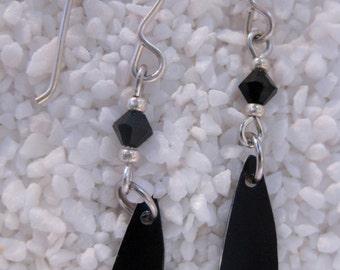 Black Anodized Aluminum Earrings