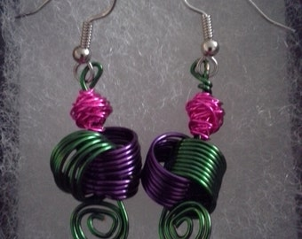 Coil Dangle Earrings