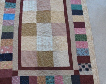 Flannel Lap Quilt in Shades of Earth Tones