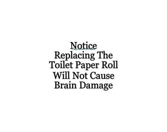 how to change toilet paper roll instructions