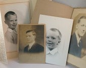 Antique Collection of Photos - Young Men and Boys - 4 Pictures Total