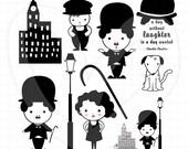 Charlie Chaplin Clip Art Set D13 002