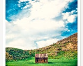 Tiny - Abandoned House Photograph - Rural Wood Cabin Photo - Colorado Landscape Photograph - Rustic Decor