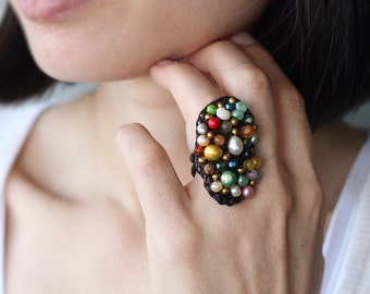 Nature Form Color Mix Glam Ring