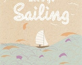 Sailing, Graphic Art Print Poster