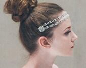 Wedding circlet - 'Darcey' crystal rhinestone bridal halo forehead band