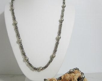 Vintage Sterling Necklace and Bracelet Set