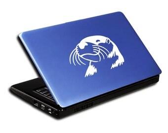 """Otter Head Decal / Otter Laptop Sticker / Otter Laptop Decal / Otter Head Car Sticker / Otter Window Sticker / 3.75""""h x 5.25""""w / #592"""