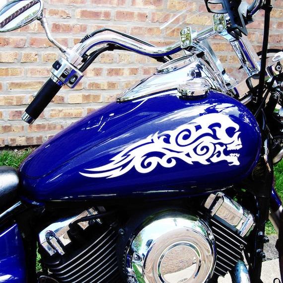 Tribal Skulls Decal Set Motorcycle Tank Skull Decals - Decal graphics for motorcyclestribal motorcycle graphics tribal motorcycle decals motorcycle