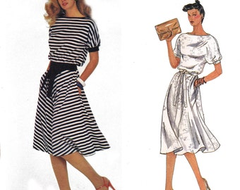 80s Sewing Pattern BILL HAIRE Stretch Knit Dress Vogue American Designer Original 2434 Vintage pattern 2434 Size 14 Bust 36 inches UNCUT