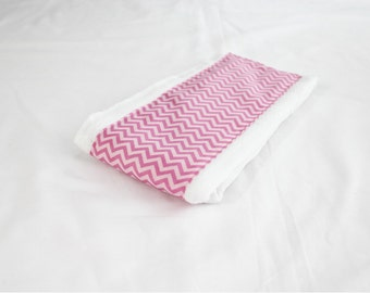 Pink Chevron Baby Burp Cloth