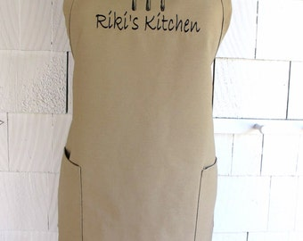 Personalized Apron for the baker - Customized apron with name