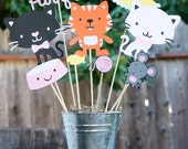 Kitty themed Birthday party centerpiece