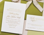 INVITATION SAMPLE The Delicate Suite - Gold Foil and Lace Wedding Invitation Sample Set - Heirloom Wedding Invitations by Sincerely, Jackie