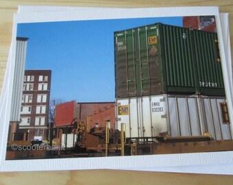 Train Traffic Blank Greeting Card Photography