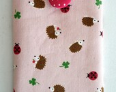 Cute Samsung Galaxy Note2 Note3 Fabric Cover Padded Sleeve Hedgehog and Ladybug/ Samsung Note3 Kawaii Pouch