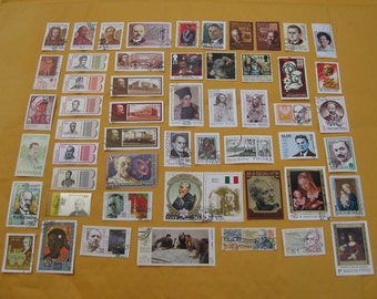 53 Portrait Vintage Postage Stamps, Men & Women from Around the Globe. STAMP SPECIAL: Any 3 sets for 12 Dollars