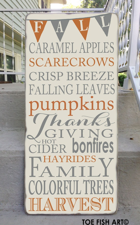 Items similar to Autumn Fall Harvest Typography With ...