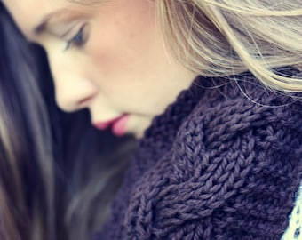 Knitting Pattern for Reversible Braid Cowl - Infinity Scarf - PDF - Instant Digital Download