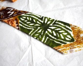 Vintage Tiki Tiki Tropical Men's  Necktie // 1960's / 70s