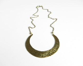 Crescent Moon necklace, Leah Moon Necklace