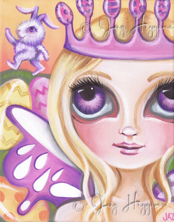 "ART PRINT - ""Easter Fairy Princess"" by Jaz Higgins - 8""x10"""