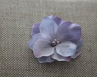 Flower girl hair clip, alligator clip, vintage hair clip, baby hair clip, lavender flower clip