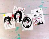 Set Postcards (4) 'Les Belles Dames' #2