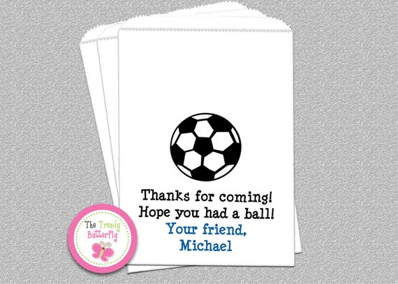 Soccer Party Favor bag , Soccer Candy Bags, Goody Bags, Party Favor Bag, Cookie Bags