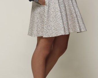 Mini skirt, Floral skirt,  Womens skirt, High waist skirt, A line skirt, Classic skirt, Short skirt