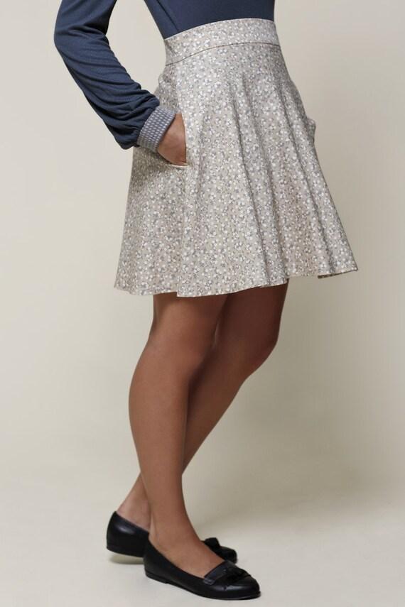 mini skirt floral skirt womens skirt high waist skirt a