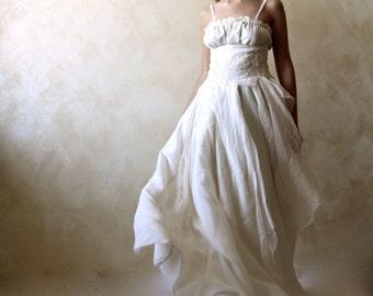 Bohemian wedding dress, Bridal Gown, Celtic wedding dress, Alternative wedding dress, hippie boho wedding dress, silk wedding gown, ballgown