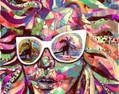 Sun Glasses In a Summer Sun Professional Art Print 8 X 10 art featured on Tumblr Radar