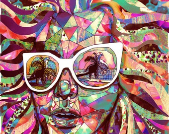 Sun Glasses In a Summer Sun Professional Giclee Art Print featured on Tumblr Radar