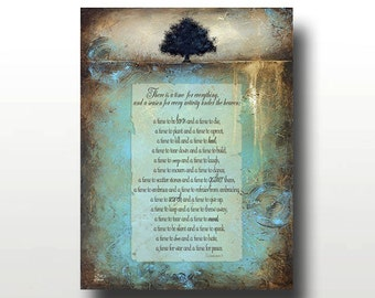 Beautiful Landscape Tree PRINT with Bible Verse - Only 100 Signed Available - A Time for Everything