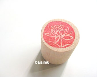 Lotus. Rubber stamp