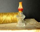 Vintage Glass Lantern Perfume Bottle, 1950's