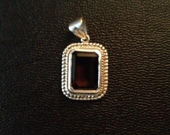 Smoky Quartz Pendant, Gift for Her, Brown Pendant, Gemstone Pendant, Natural Smoky Quartz,  Sterling Silver, Smoky Quartz Jewelry