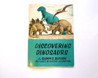 Discovering Dinosaurs, a Vintage Children's Book, 1960