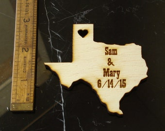 50 Texas Wedding Favors Custom Engraved