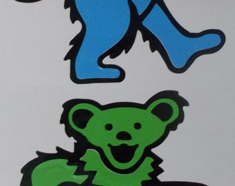 Grateful Dead Dancing Bears Vinyl Sticker Decal