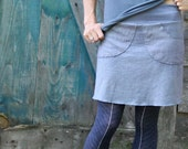 Perfect Pocket Skirt-Short Length-Hemp/Organic Cotton Fabric