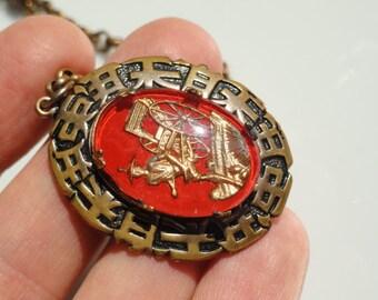 Oriental jewelry, Rickshaw Necklace, Rickshaw jewelry, vintage Oriental jewelry