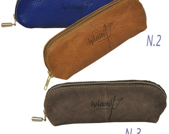 Eyeglasses Leather case, beauty stuff case ,named Mojos MADE TO ORDER