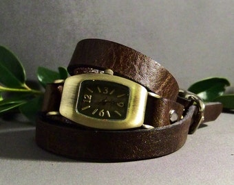 Wrap  Watch, Leather Watch, Unique Watch, Unique Womens Watch, Bracelet Watch, Leather Wrist Watch, Watch for her, Friendship Watch, Gifts