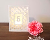 Eloise Luminary Wedding Table Numbers, Table Number Luminaries, Table Decor, Wedding Table Markers /